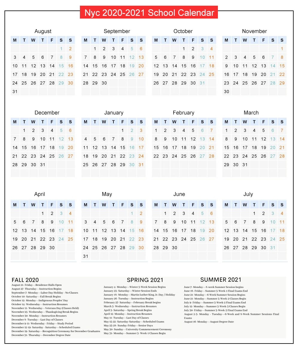 Nyc Doe School Calendar 2021-2022 NYC DOE Public School Calendar Holidays 2021 2022